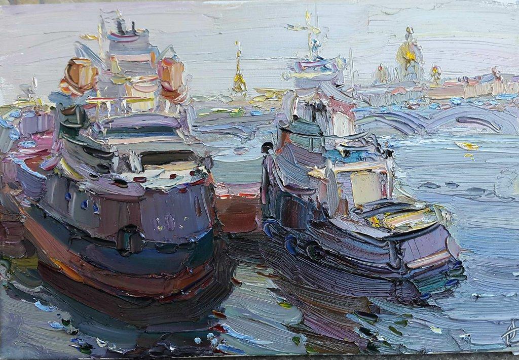 Корабли на Васильевском